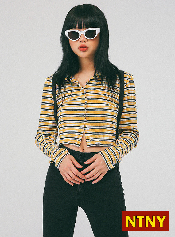 [NTNY-130] KEITH STRIPE CARDIGAN